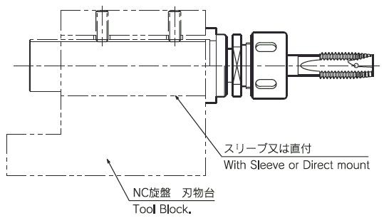 タップホルダ(軸方向フロート機構付)
